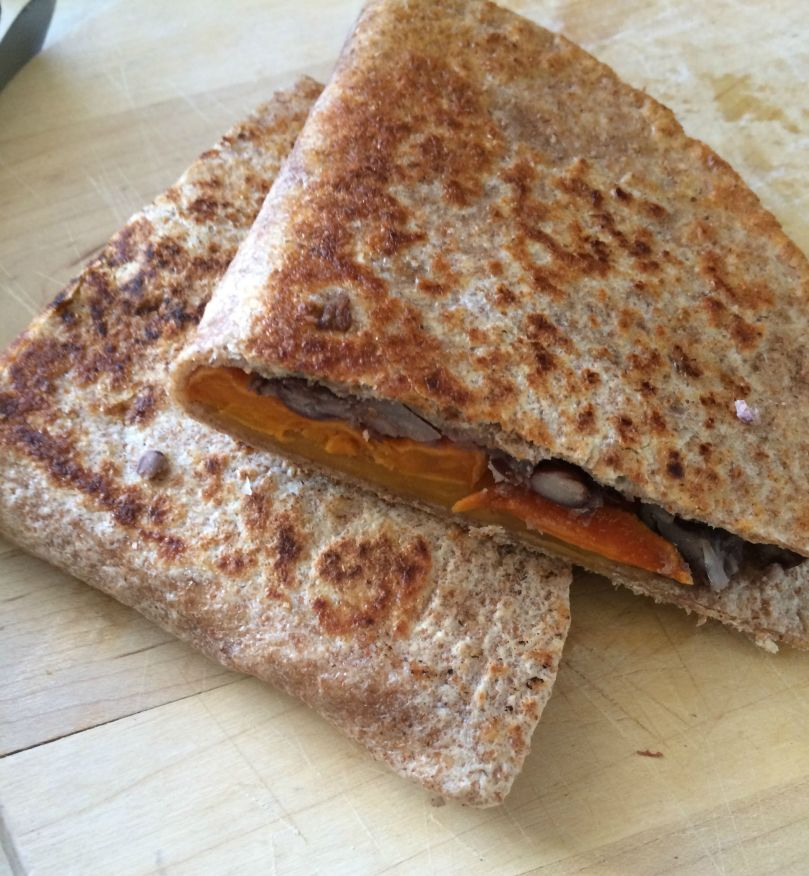 Quesadillas with Lime Roasted Sweet Potatoes