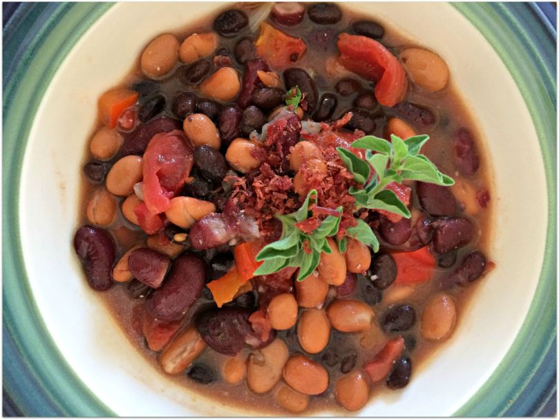 Three Bean and Turkey Bacon Soup