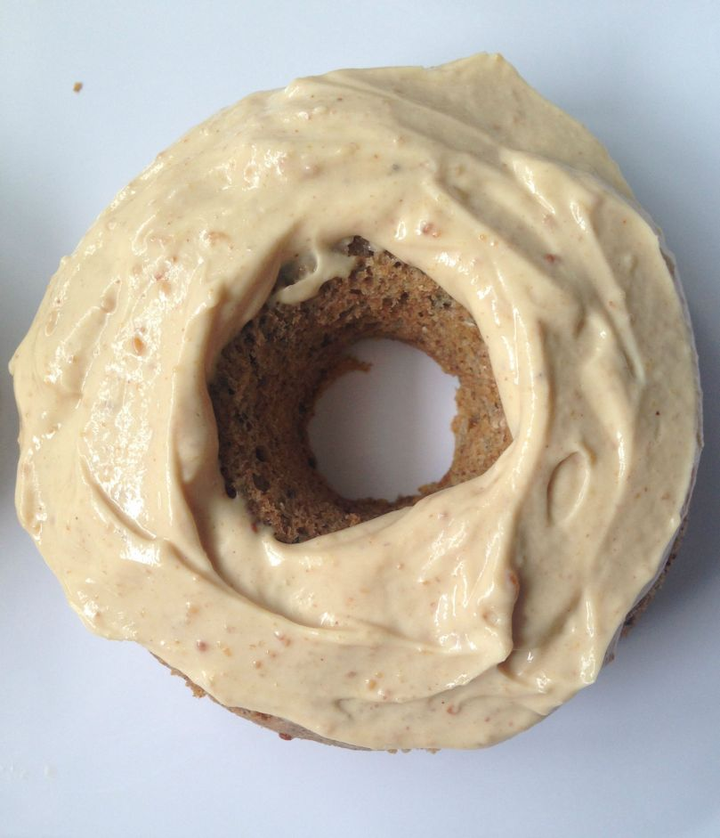 Chia Seed Donut with Peanut Butter Glaze