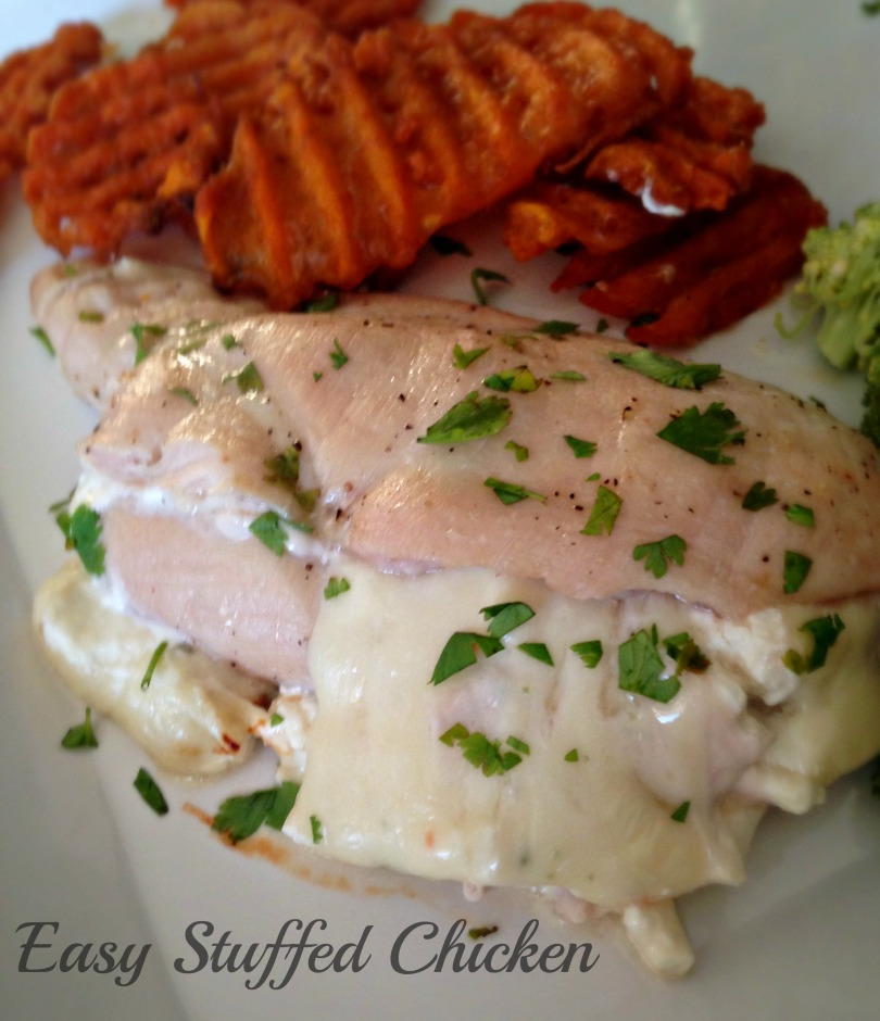 Easy, Cheesy Stuffed Chicken Breast