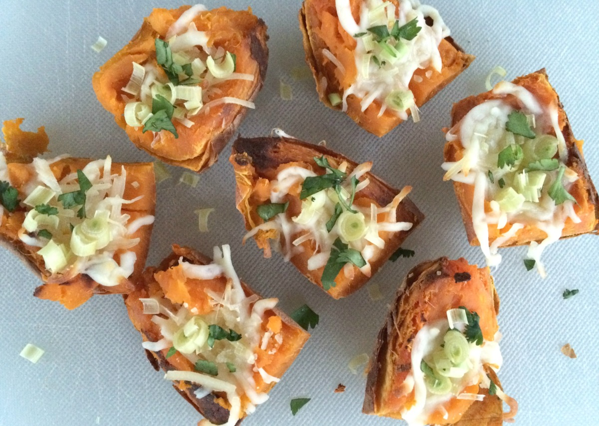 Sweet Potato Skin Bites